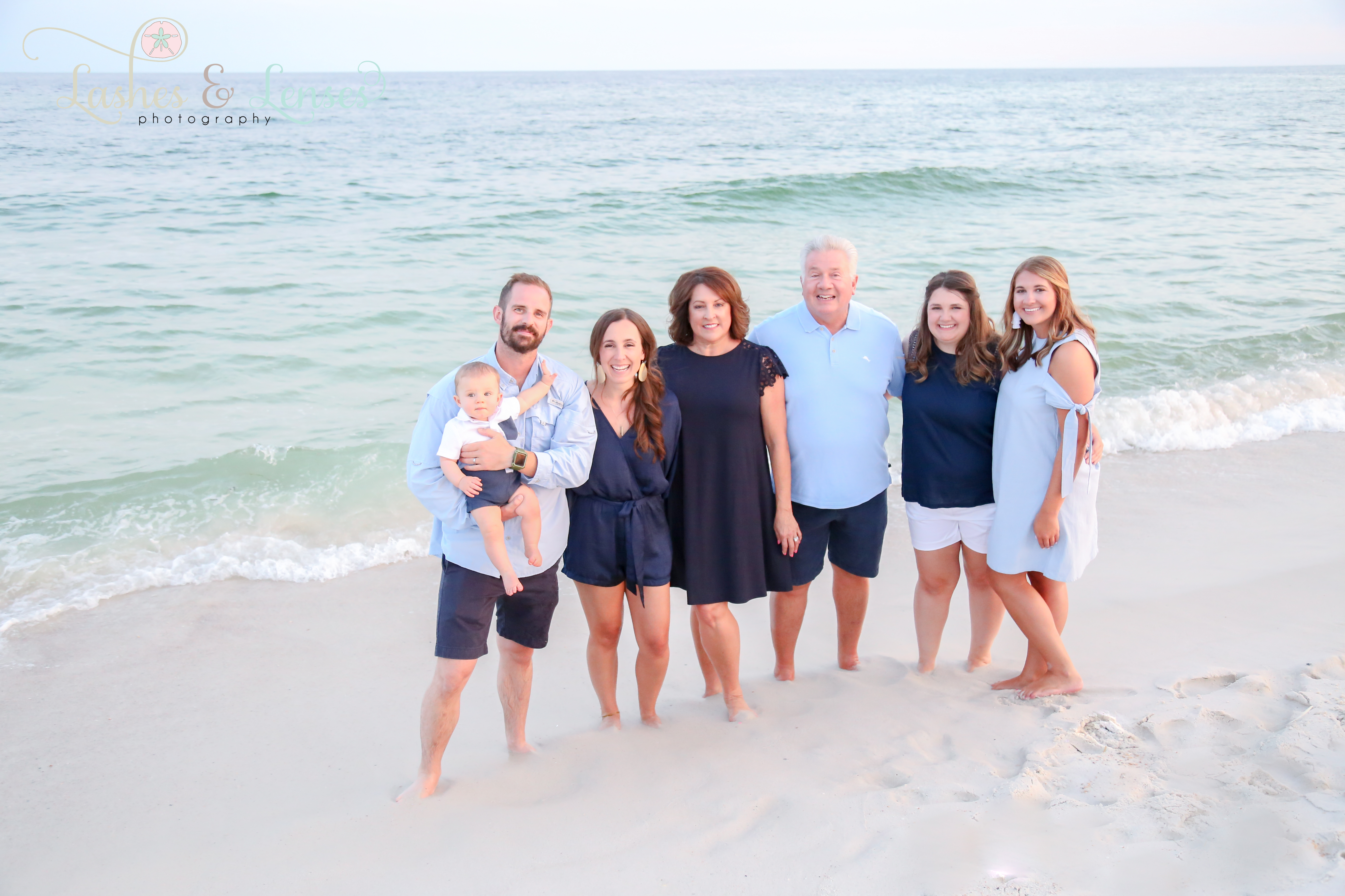 Large family by Gulf of Mexico in Perdido Key Florida