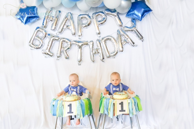 Twins Birthday Smash Cake Session
