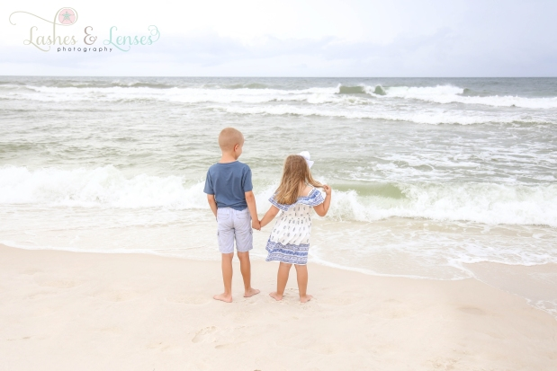 Children looking water at Johnsons Beach Perdido Key