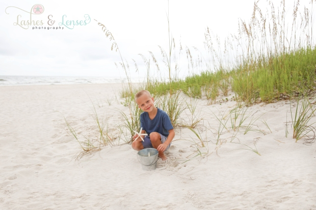 Little boy in sand at Johnsons Beach