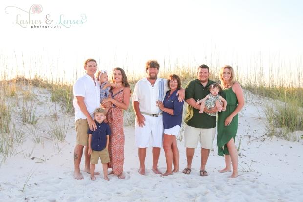 Large family at Johnsons Beach Perdido Key