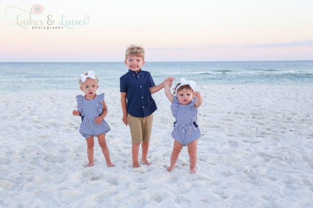 Cousins by the water at Johnsons Beach Perdido Key