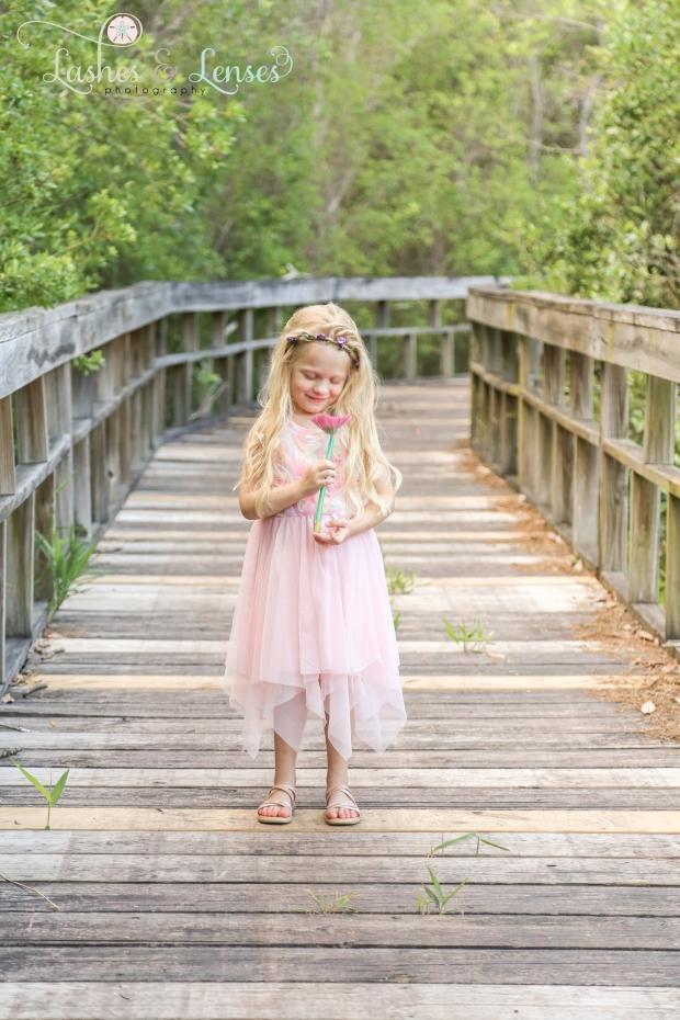 Little girl on nature walk