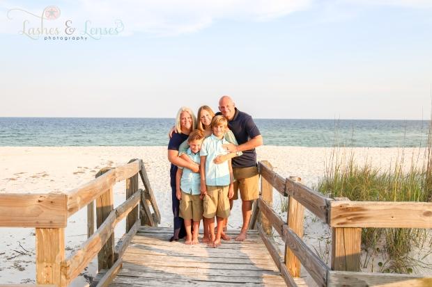 Family on boardwalk at Johnsons Beach Perdido Key