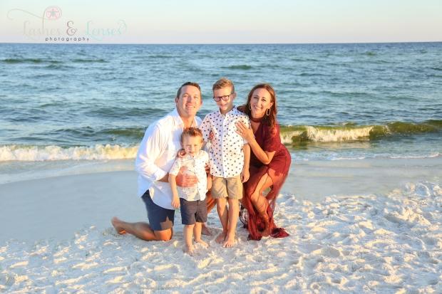 Family by the water at Johnsons Beach Perdido Key