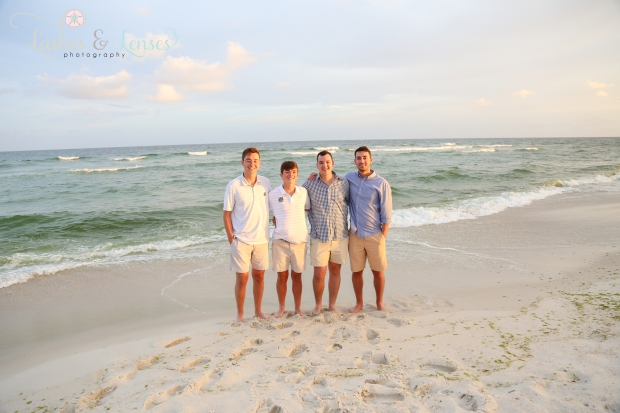 Brothers standing by the water at Johnsons Beach Perdido Key