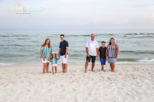 Two families by the water at Johnsons Beach Perdido Key