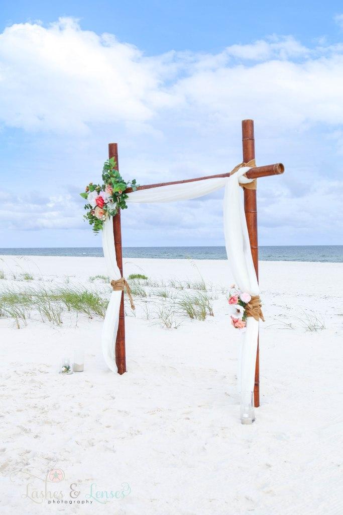 Wedding Arch at Johnsons Beach in Perdido Key Florida